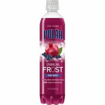 Polar Sparkling Frost Water, PomBerry 17 Fl Oz, 12 Count
