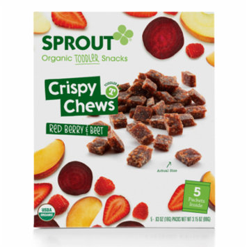 Sprout Fruit & Veggie Crispy Chews, Red Berry & Beet Organic Baby T - 5 Pack (Pack of 6)