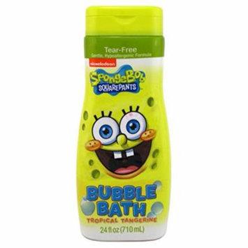 Spongebob Bubble Bath 24 Ounce Tropical Tangerine (709ml) (6 Pack)