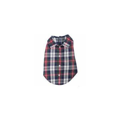 Worthy Dog Navy Plaid Dog Shirt X-Large