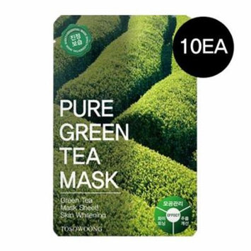 (10pcs) ToSoWoong Beauty Innovation Pure Green Tea Mask / Whitening/Anti-Wrinkle 10sheets