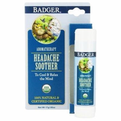 Headache Soother Balm Stick - 0.6 oz. by Badger (pack of 3)