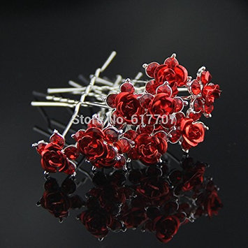 10Pcs/Set Best Gift for Bride Rose Crystal Hairpins Bridal Hair Accessories Hair jewelry Wedding Accessories