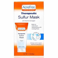 6 Pack AcneFree Sulfur Mask with Vitamin C & Copper, Acne Treatment 1.7 oz each