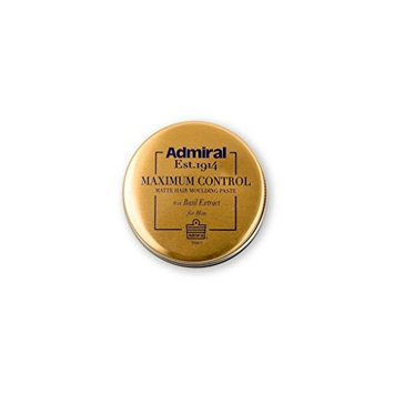 Admiral Male Grooming Maximum Control Matte Hair Molding Paste with Basil Extract, 1.7 Ounce