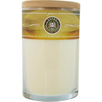 Peace Massage & Intention Soy Candle 12 Oz Tumbler. A Blend Of Lavender, Bergamont & Ylang Ylang With A Lepidolite Gemstone. Burns Approx. 30+ Hours