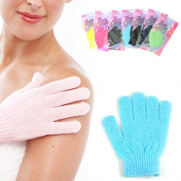 Atb 4 Pcs Shower Exfoliating Wash Skin Spa Bath Gloves Massage Loofah Scrubber New