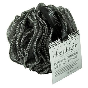 Clean Logic Purifying Charcoal Mesh Bath Sponge (6 Pack)
