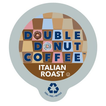 Double Donut Italian Roast Coffee, in Recyclable Single Serve Cups for Keurig K-Cup Brewers, 80 Count