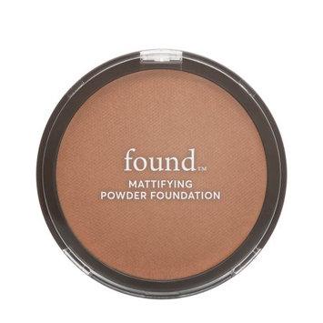 FOUND Mattifying Powder Foundation with Rosemary, 180 Deep, 0.28 fl oz