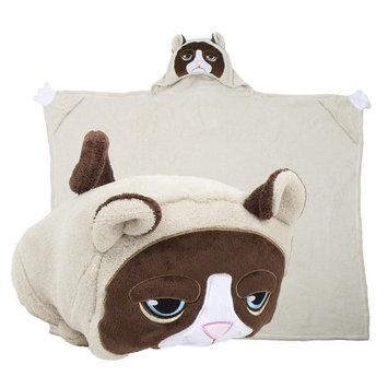 Comfy Critters CCGCAT0GRPCAT00000 Grumpy Cat Blanket