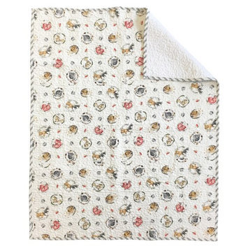 Woodland Critters Crib Quilt Coverlet by Oliver Gal