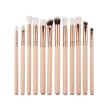 Toraway Pro 12Pcs Mini Cosmetic Eyebrow Eyeshadow Brush Makeup Brush Sets Kits Tools