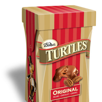 Demet's Candy Company Turtles 5.8oz Original Milk Chocolate Covered Pecan & Caramel Clusters in a Stand Up Box