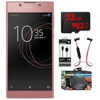 Sony Xperia L1 16GB 5.5-inch Smartphone Unlocked Pink w/ 32GB Memory Card Bundle