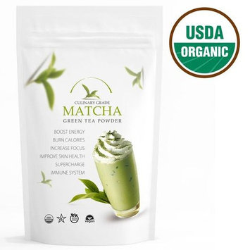 Traditional Matcha (16oz) USDA Organic, Kosher & Non-GMO Certified, Vegan and Gluten-Free. Pure Matcha Green Tea Powder.