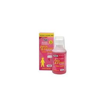 6 Pack Rugby Children's Pain & Fever Elixir Cherry 4oz Each