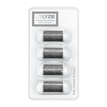 UTILYZE Wet & Dry Refill Rollers for Electronic Foot File Pedicure Electric Callus Remover, 4 Pack (Fine Coarse)