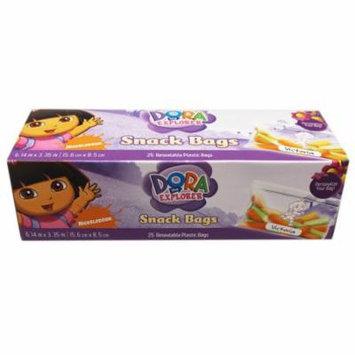 Dora the Explorer Resealable Kids Snack Bags (25 Count)