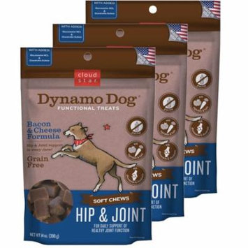 Cloud Star Dynamo Dog Hip & Joint - Bacon & Cheese 14 oz Functional Treats 3 Pack