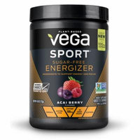Vega Sport Pre Workout Energizer Powder, Sugar-Free Acai Berry, 4.0 Oz