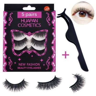 Lady Up 3D Fake Eyelashes Dramatic Deluxe False Lashes Extension with Volume Crisscross Design for Eye Makeup