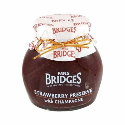 Mrs Bridges Strawberry Preserve with Champagne, 12 oz