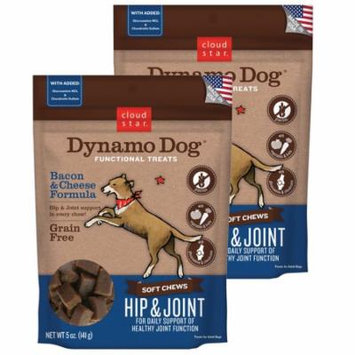 Cloud Star Dynamo Dog Hip & Joint - Bacon & Cheese 5 oz Functional Treats 2 Pack