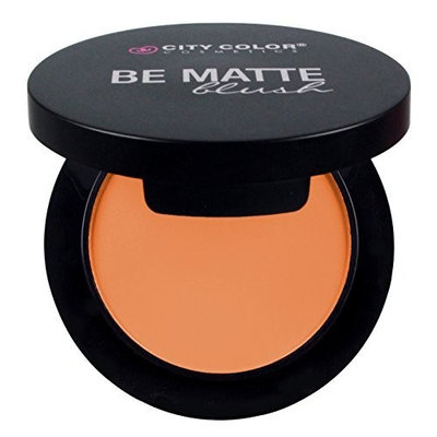 CITY COLOR COSMETICS Be Matte Blush   Blendable Mineral Makeup Powder (Apricot)