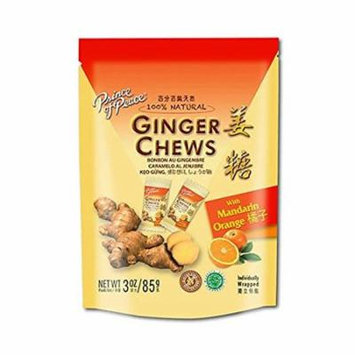 3 Pack Prince of Peace Mandarin Orange Ginger Chewy Candy All Natural 3oz each