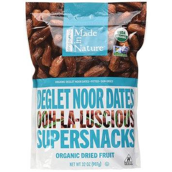 Made in Nature Organic Dried Dates, 32 oz - Non-GMO Vegan Dried Fruit Snack [Deglet Noor Dates]