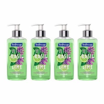 4 Pack Softsoap Liquid Hand Soap, Wild Basil and Lime 8oz Each