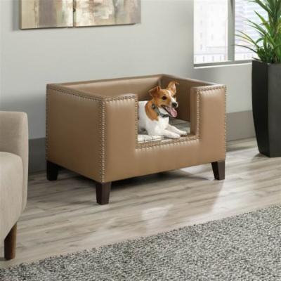 Pet Bed in Brown Finish