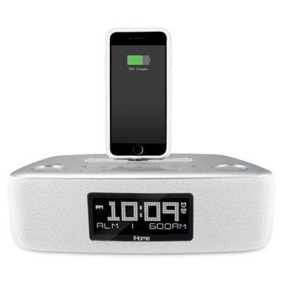 iHome™ iDL44 Dual Alarm Clock Radio with USB Charging Port