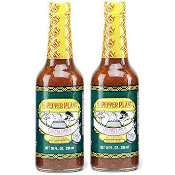 The Pepper Plant Hot Pepper Sauce, Chunky Garlic (Pack of 2)