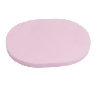 uxcell® Soft Sponge Oval Shape Make Up Facial Face Washing Cleansing Puff 2 Pcs Pink