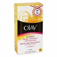 Olay Complete Lotion Moisturizer with SPF 15 Normal, 4.0 fl oz (Pack of 12)