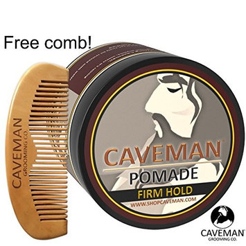 Handcrafted Caveman® HAIR POMADE FIRME (STRONG) HOLD Rockabilly 4oz. + FREE Comb