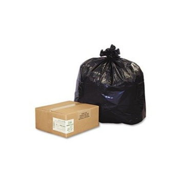 Earthsense Commercial RNW4320 - Recycled Can Liners, 56-gal., 2.0 mil, 43 x 47, Black, 100/Carton