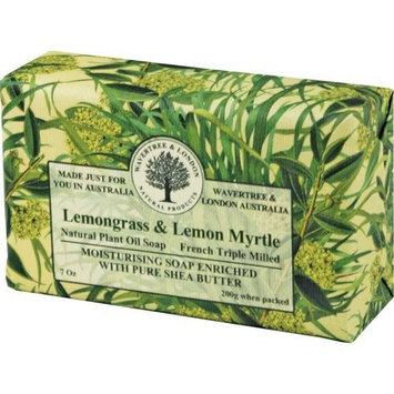 Australian Soapworks Wavertree & London 200g Soap Set of 4 - Lemon Myrtle & Lemongrass