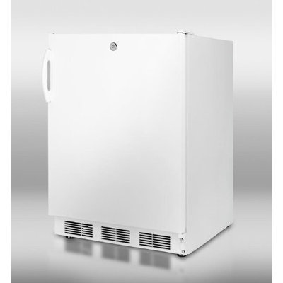 Summit CT66JADA: ADA compliant refrigerator-freezer in white for freestanding use, with cycle defrost and