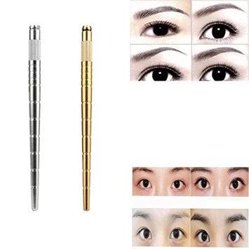 DZT1968 1PC Eyebrow Tattoo Pen Metallic Waterproof Manual Eyebrow Microblading Pencil (G