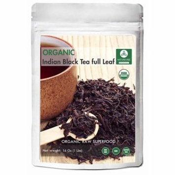 Organic Indian Black Tea Full Leaf (100gm) by Naturevibe Botanicals - Bulk Tea with Loose Leaf
