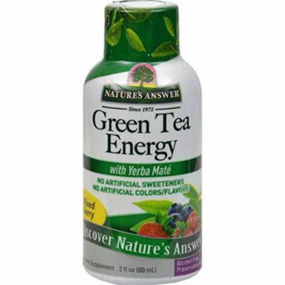 6 Pack Nature's Answer - Green Tea 2OZ Energy Shot w/ Yerba Maté