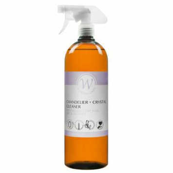 Worthy Chandelier and Crystal Cleaner. Removes Dust, Dirt, Film, Lint, and Smudges. Fragrance Free - 32 oz With Sprayer