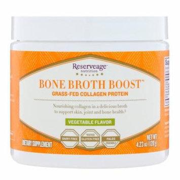 ReserveAge Nutrition Bone Broth Boost Grass-Fed Collagen Protein Vegetable Flavor 4 23 oz 120 g