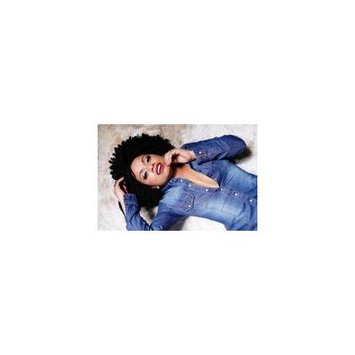 LAMINATED POSTER Brunette Curly Hair Hair Woman Beautiful Women Poster 24x16 Adhesive Decal