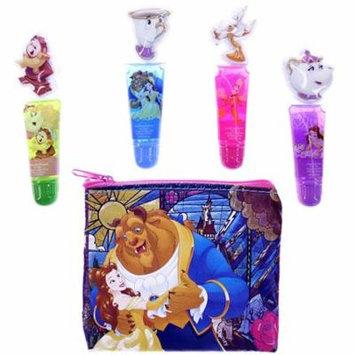 Disney Beauty and the Beast Girls Dress up 5pc Cosmetic Lip Gloss Makeup Set