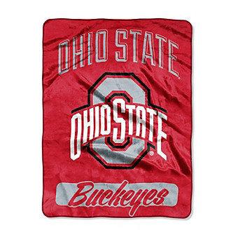Northwest Company Ohio State Buckeyes Micro Raschel Varsity Blanket