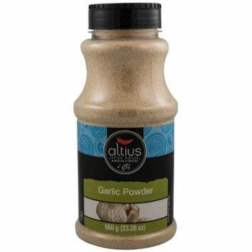 Altius Garlic Powder, Food Service Size Bottles, Used With Basil and Oregano, Kosher and Organic Certified 23.28 oz x 1